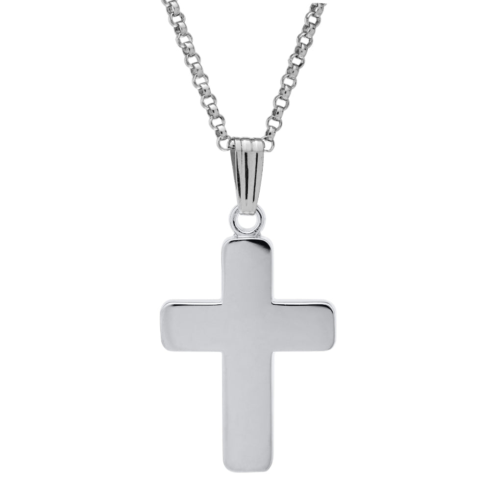 Sterling Silver Classic Cross Necklace