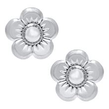 Load image into Gallery viewer, Sterling Silver Children's Flower Earrings