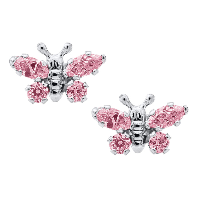 Sterling Silver Children's Butterfly Earrings