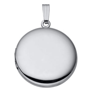 Sterling Silver Round Polished Locket Necklace