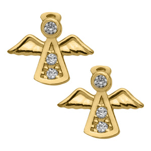 Children's Gold Angel Earrings
