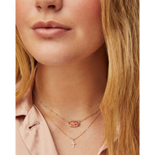 Load image into Gallery viewer, Kendra Scott Cross Necklace Pendant in White Diamond and 14K