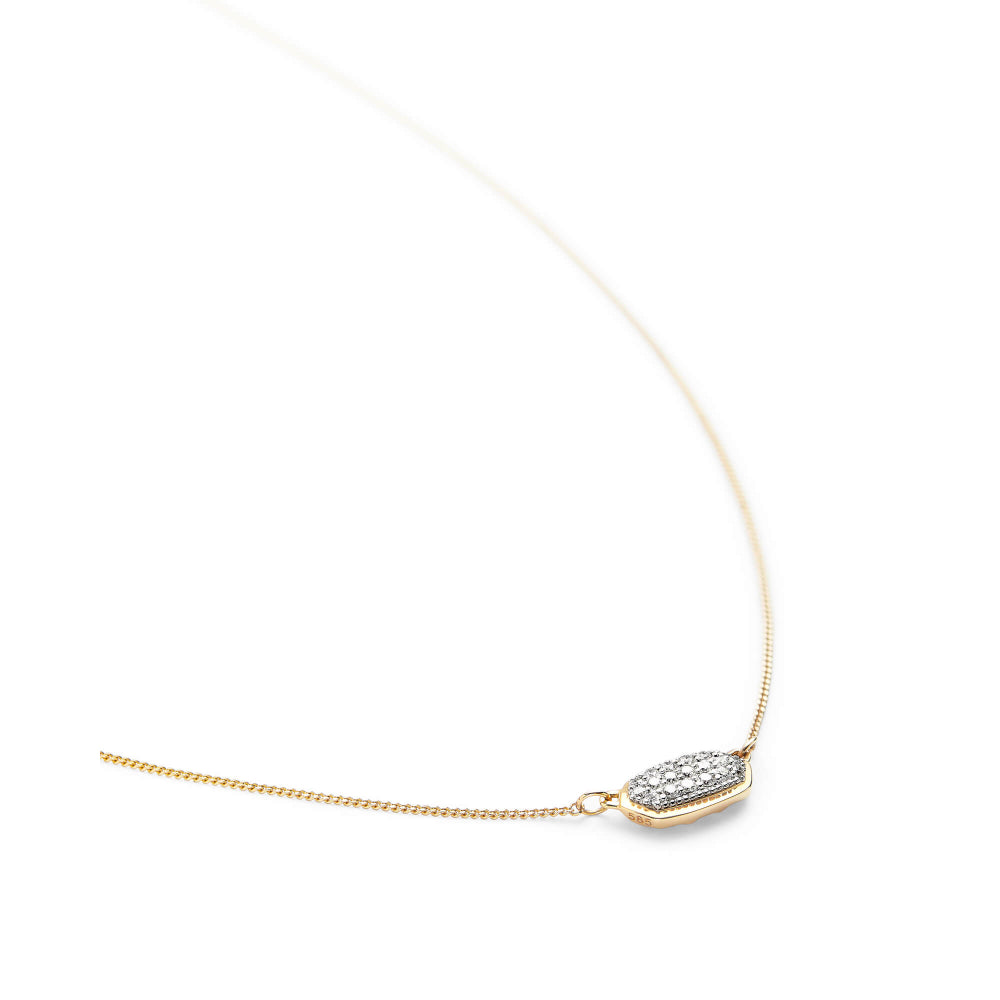 Kendra Scott Lisa Pendant Necklace in White Diamond and 14K