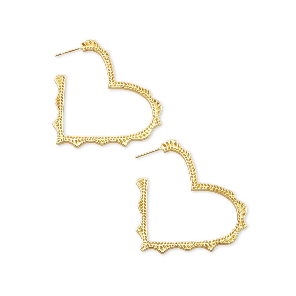 Kendra Scott Sophee Heart Hoop Earrings