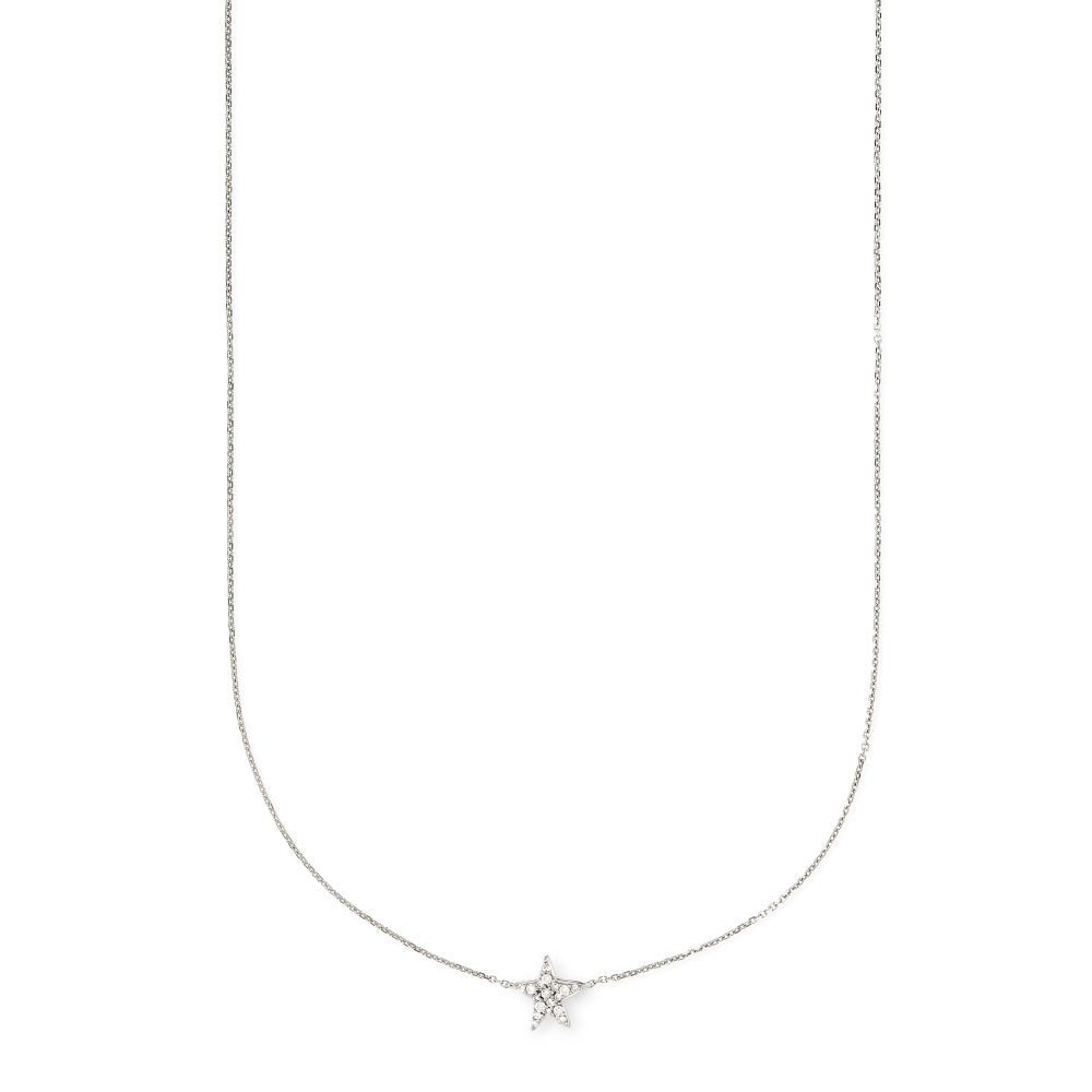 Kendra Scott Star Necklace Pendant in White Diamond and 14K