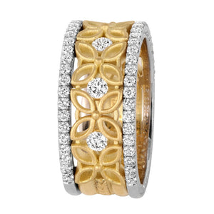 Jack Kelége Three Row Diamond Band