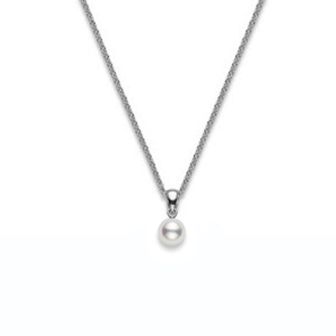 Mikimoto Pearl Pendant in White Gold - 7.0 mm, A+ quality