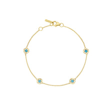 Load image into Gallery viewer, Tacori Petite 4-Station Gemstone Bracelet