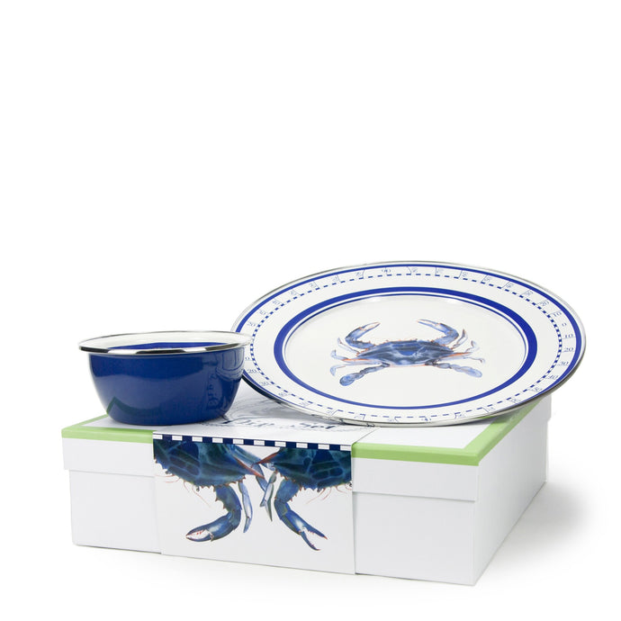 Golden Rabbit Blue Crab Dip Set