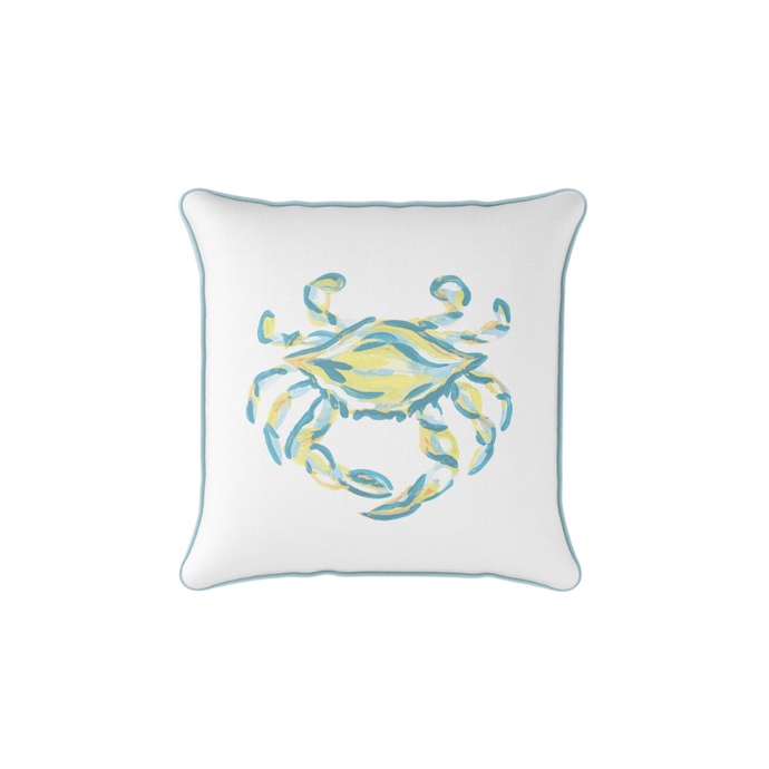 Sewing Down South King Crab with Neon and Carolina Blue Pillow
