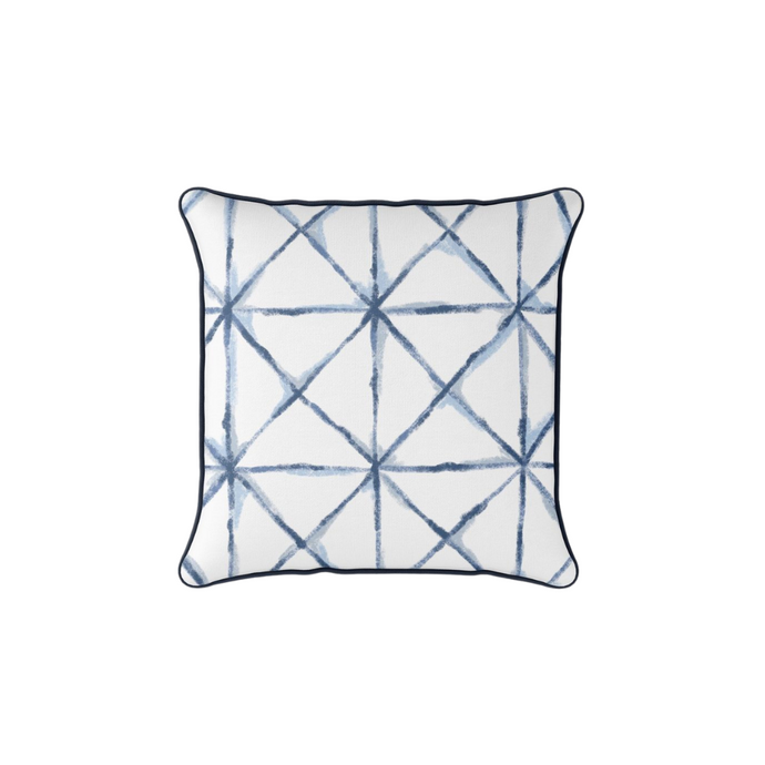 Sewing Down South Navy Grid Pillow