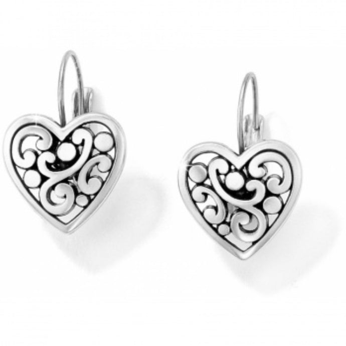 Brighton Contempo Heart Leverback Drop Earrings