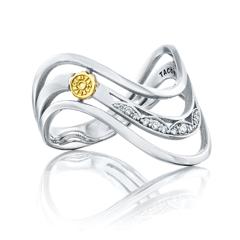 Tacori Triple Wave Ring with Diamonds