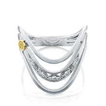 Load image into Gallery viewer, Tacori Triple Wave Ring with Diamonds
