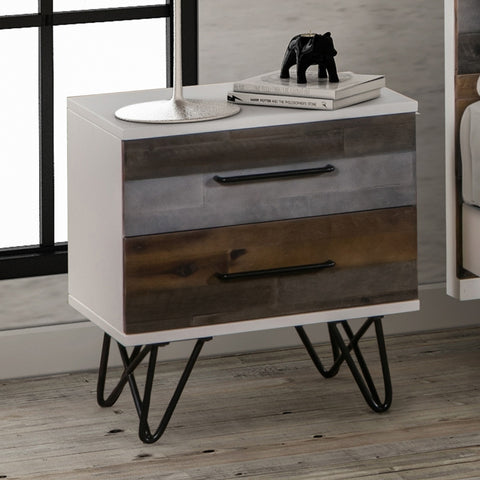 Image of Shelby Bedside Table - 2 Drawers
