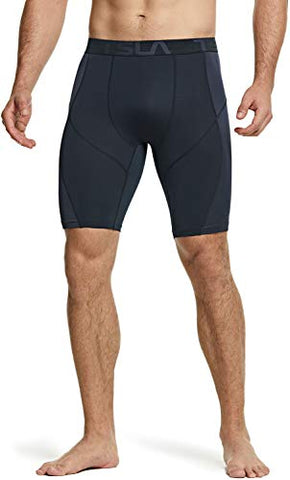 Tesla Men's (Pack of 2) Compression Shorts Baselayer Cool Dry Sports Tights MUS67-VCH