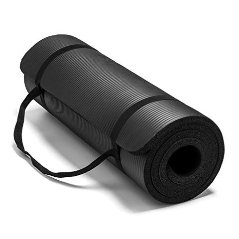 15MM Thick Yoga Mat Non-Slip Durable Exercise Fitness Gym Mat Lose Weight Pad (Black)