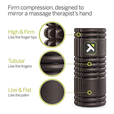 Image of TriggerPoint Grid Foam Roller with Free Online Instructional Videos, Original (13-inch), Black