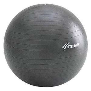 Steeden Anti Burst Swiss, Birthing / Exercise Ball + Free Foot Pump (Charcoal, 75cm)
