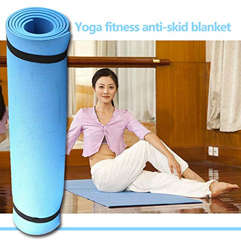 Image of SturdCelleau Non Slip Yoga Mat- Double Sided Comfort Foam, Durable Exercise Mat for Fitness, Pilates and Workout (Blue)