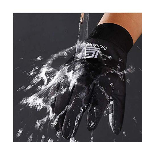 Touch Screen Gloves Outdoor Wind Water Proof Driving Running Winter Warm Glove for Women Men (XL)