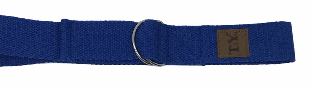 Tiiyar Yoga Strap - 183cm Strentch Strap for Yoga Practice, Pilates Exercise, Yoga Guide Ebook Included (Blue)