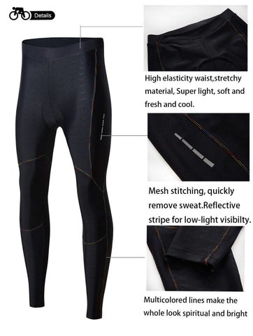 Women's Bike Pants Cycling Tights Padded 3D Bicycle Long Legging Breathable & Quick Dry