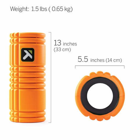 Image of TriggerPoint Grid Foam Roller with Free Online Instructional Videos, Original (13-inch), Orange