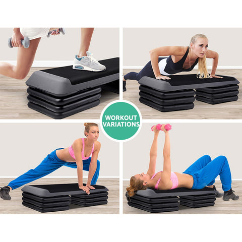 Image of Everfit 4 Level Aerobic Exercise Step Stepper Riser Gym Cardio Fitness Bench