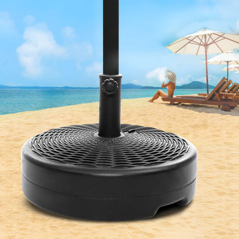 Image of Instahut Outdoor Pole Umbrella Stand Base Pod Sand/Water Patio Cantilever Offset