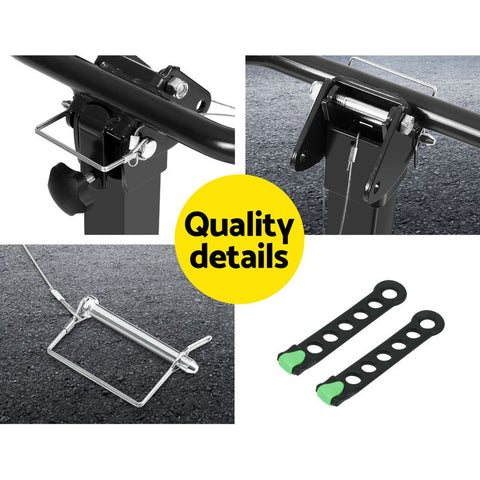 Image of Giantz Bike Carrier 4 Bicycle Car Rear Rack Hitch Mount 2 Towbar Foldable Steel""
