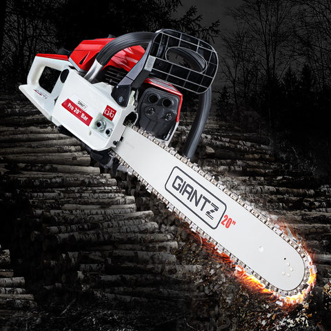 Image of GIANTZ 52CC Petrol Commercial Chainsaw Chain Saw Bar E-Start Pruning