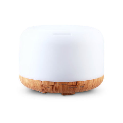Image of DEVANTI Aroma Diffuser Aromatherapy LED Night Light Air Humidifier Purifier Light Wood Grain 500ml