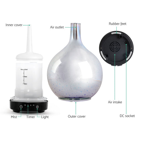 Image of Aroma Diffuser 3D LED Light Oil Firework Air Humidifier 100ml