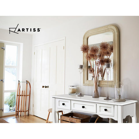 Image of Artiss Hall Console Table Hallway Side Dressing Entry Wooden French Drawer White