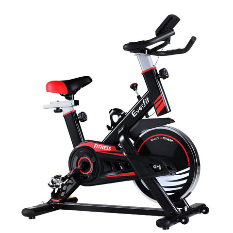 Image of Everfit Spin Exercise Bike Fitness Commercial Home Workout Gym Equipment Black