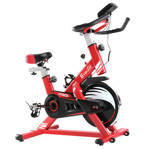Image of Everfit Exercise Spin Bike Cycling Fitness Commercial Home Workout Gym Equipment Red
