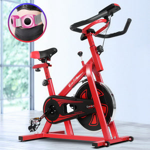 Everfit Spin Exercise Bike Cycling Fitness Commercial Home Workout Gym Equipment Red
