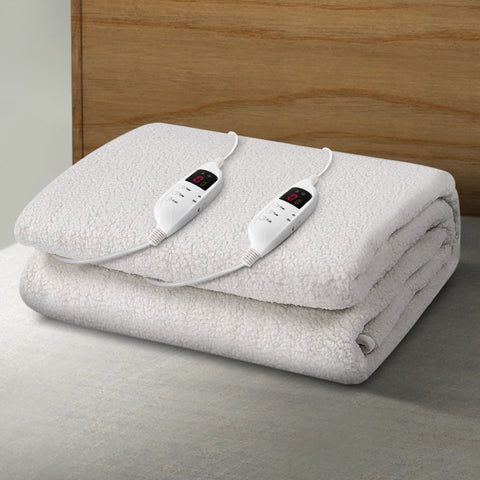 Image of Giselle Bedding 9 Setting Fully Fitted Electric Blanket - King
