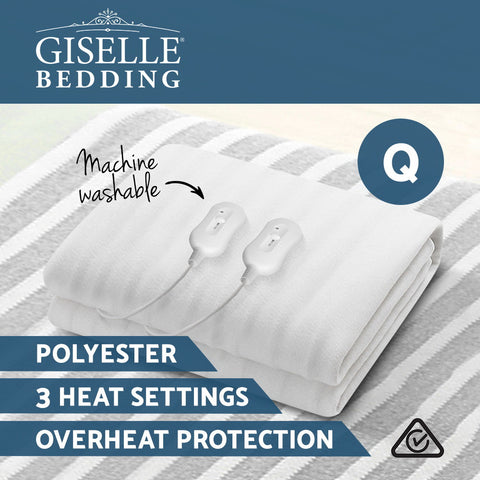 Image of Giselle Bedding 3 Setting Fully Fitted Electric Blanket - Queen