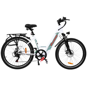 "Phoenix 26"" Electric Bike eBike e-Bike Mountain Bicycle City Battery Motorized White"