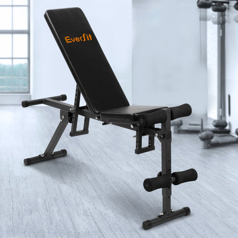 Everfit Adjustable Weight FID Bench Fitness Flat Incline Decline Press Home Gym