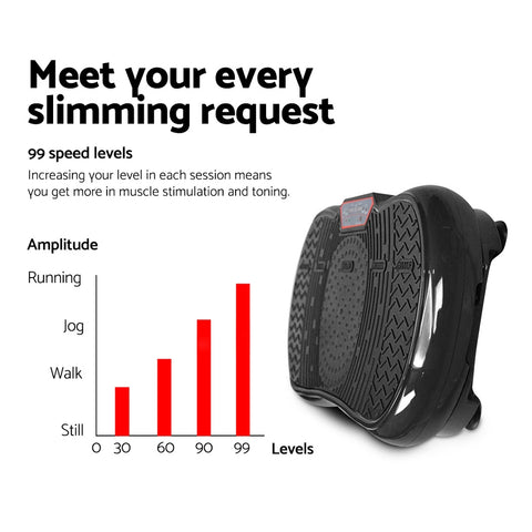 Image of Everfit Vibration Machine Plate Platform Body Shaper Home Gym Fitness Black
