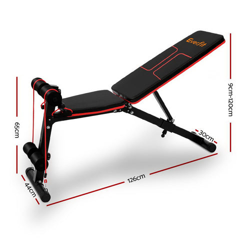Image of Everfit Adjustable FID Weight Bench Fitness Flat Incline Gym Home Steel Frame