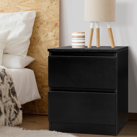 Image of bed side table black