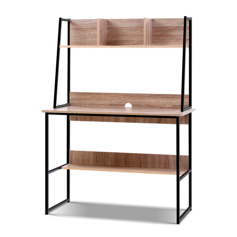 Image of Artiss Office Computer Desk Study Table Workstation Bookshelf Storage Oak