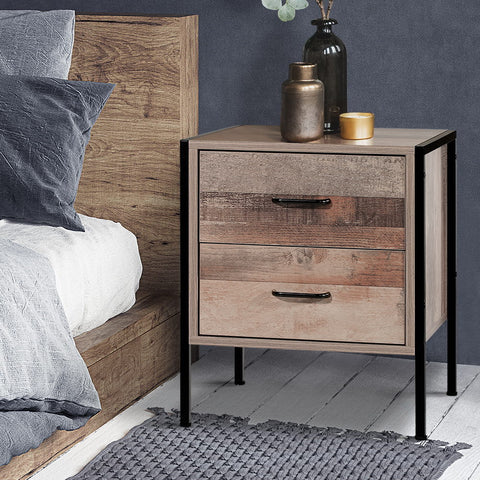 Image of wood bedside table
