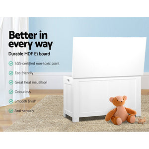 Keezi Kids Toy Box Storage Chest Cabinet Children Organiser White Container