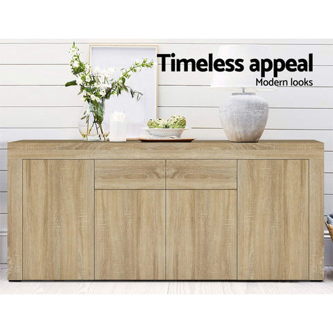 Image of Artiss Buffet Sideboard Cabinet Storage 4 Doors Cupboard Hall Wood Hallway Table