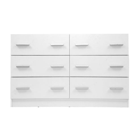 Image of Artiss 6 Chest of Drawers Cabinet Dresser Tallboy Lowboy Storage Bedroom White
